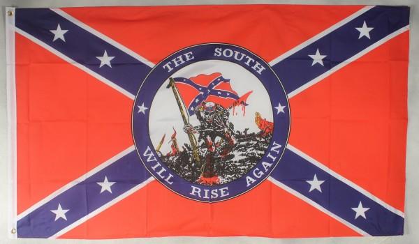 Flagge Fahne : The South will rise again USA Südstaaten Bürgerkrieg