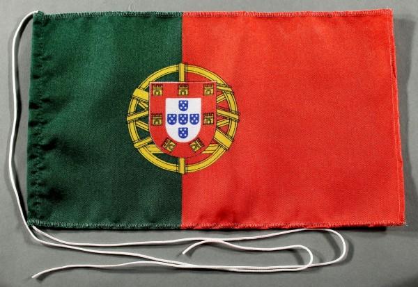 Tischflagge Portugal 25x15 cm optional mit Holz- oder Chromständer Tischfahne Tischfähnchen