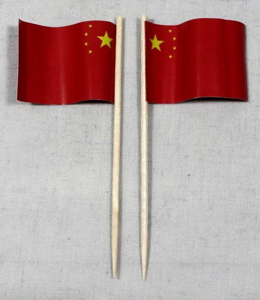 Party-Picker Flagge China Papierfähnchen in Spitzenqualität 50 Stück Beutel