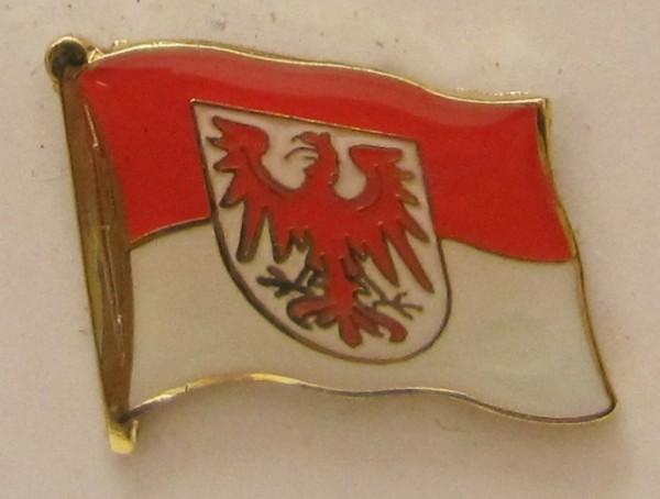 Pin Anstecker Flagge Fahne Brandenburg Landesflagge Flaggenpin Button Badge Flaggen Clip Anstecknade