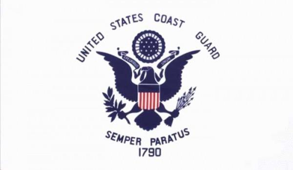 Flagge Fahne : US Coast Guard United States Semper Paratus