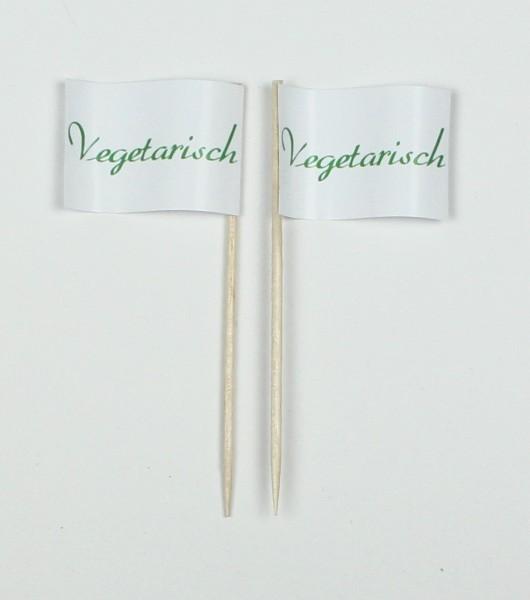 Party-Picker Flagge grün Vegetarisch Papierfähnchen in Spitzenqualität 50 Stück Beutel