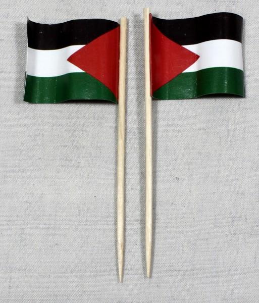Party-Picker Flagge Palästina Papierfähnchen in Spitzenqualität 50 Stück Beutel