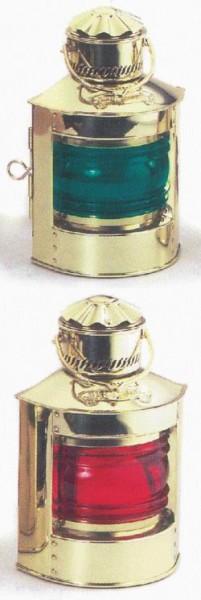 Schiffslampe Messing Positionslampe Set 2 Stück rot und grün 24 cm Höhe schwere Ausführung 220 Volt