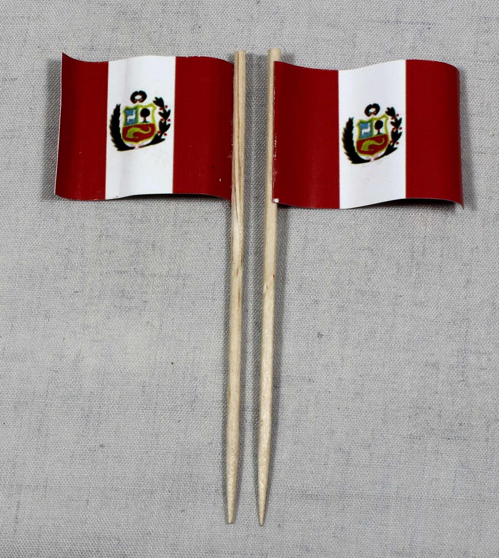 50 Dekopicker Chile Fahne Flagge Minifahnen