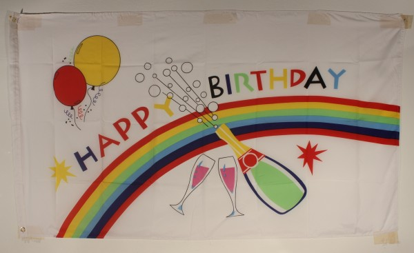 Happy Birthday Flagge Großformat 250 x 150 cm wetterfest