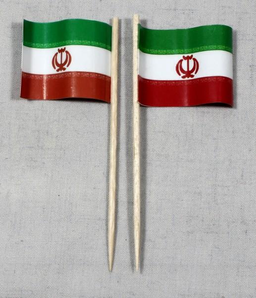 Party-Picker Flagge Iran Papierfähnchen in Spitzenqualität 50 Stück Beutel