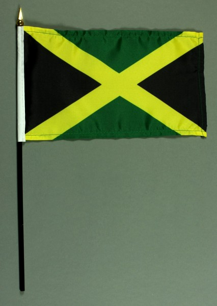 Tischflagge Jamaika 15x25 cm BASIC optional mit Tischflaggenständer
