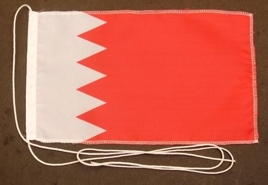 Tischflagge Bahrain 25x15cm optional mit Holz- oder Chromständer Tischfahne Tischfähnchen