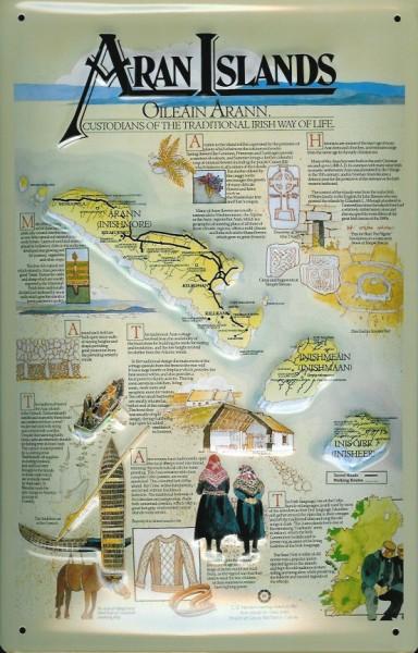 Blechschild Nostalgieschild Aran Islands Irland
