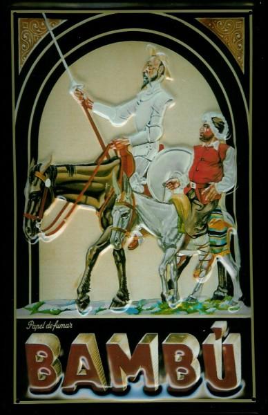 Blechschild Nostalgieschild Don Chiquotte Bambu Ritter Filmplakat
