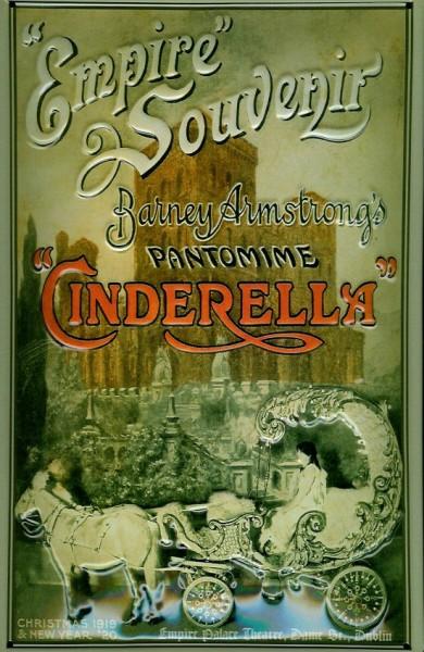 Blechschild Cinderella Pantomime Empire Souvenir Schild Nostalgieschild