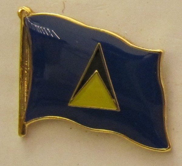 St. Lucia Pin Anstecker Flagge Fahne Nationalflagge