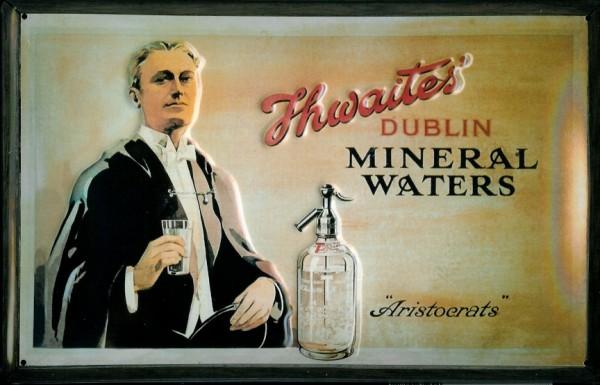 Blechschild Thwaites Mineral Water Mineralwasser Schild retro Werbeschild