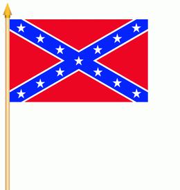 Stockflagge Südstaaten USA 30x45cm