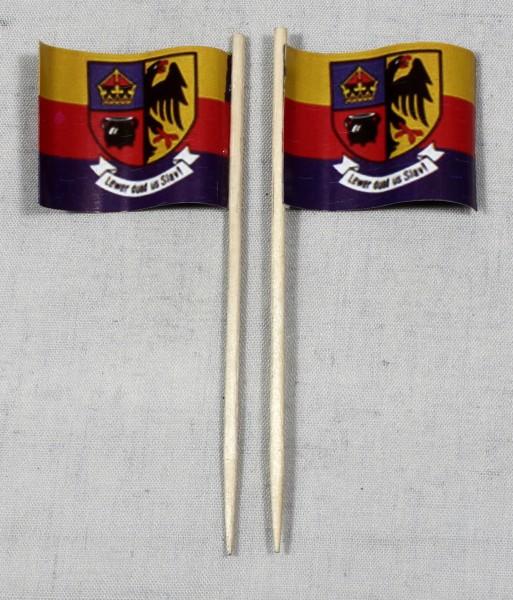 Party-Picker Flagge Nordfriesland Papierfähnchen in Spitzenqualität 50 Stück Beutel