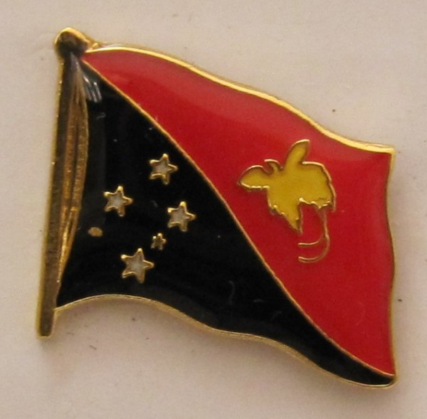 Papua Neu Guinea Pin Anstecker Flagge Fahne Nationalflagge