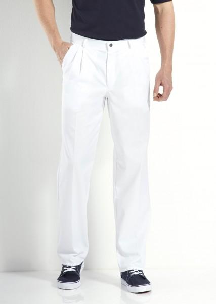 Weiße Herren bundfaltenhose Hose von Modas
