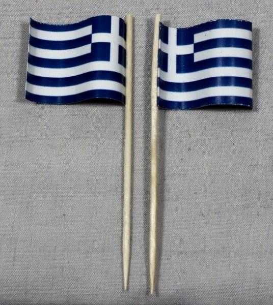 Party-Picker Flagge Griechenland Papierfähnchen in Spitzenqualität 50 Stück Beutel