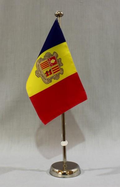 Tischflaggenständer Chrom 1-fach 44 cm für 15x25 cm Tischflaggen