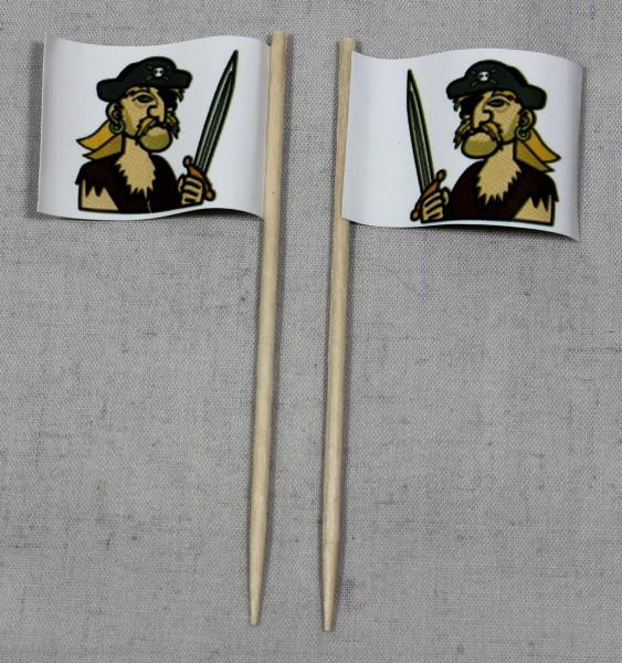 Party-Picker Flagge Pirat (2) Papierfähnchen in Spitzenqualität 50 Stück Beutel
