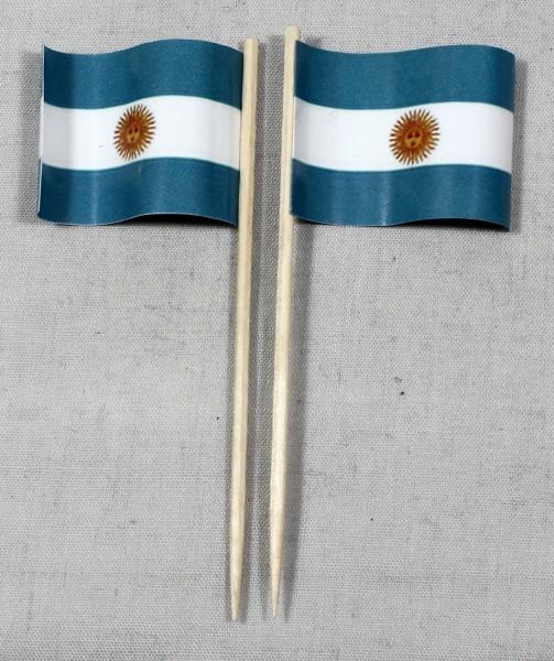Party-Picker Flagge Argentinien Papierfähnchen in Spitzenqualität 50 Stück Beutel