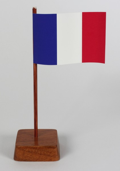 Mini Tischflagge Frankreich Höhe 13 cm Tischfähnchen