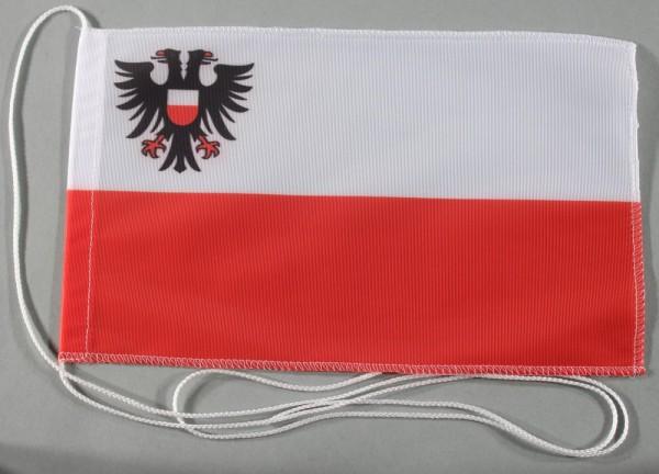 Tischflagge Lübeck Stadtflagge 25x15 cm optional mit Holz- oder Chromständer Tischfahne Tischfähnche