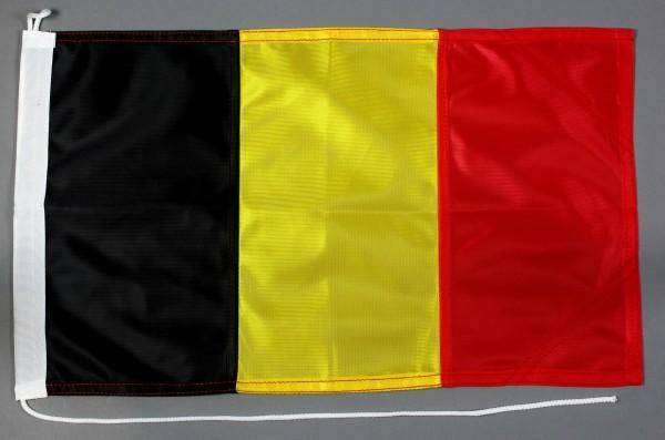 Bootsflagge Belgien 30x45 cm Motorradflagge Bootsfahne