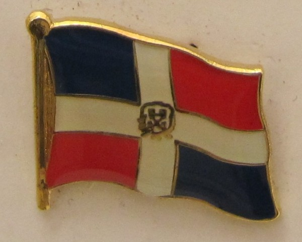 Dominikanische Republik Pin Anstecker Flagge Fahne Nationalflagge