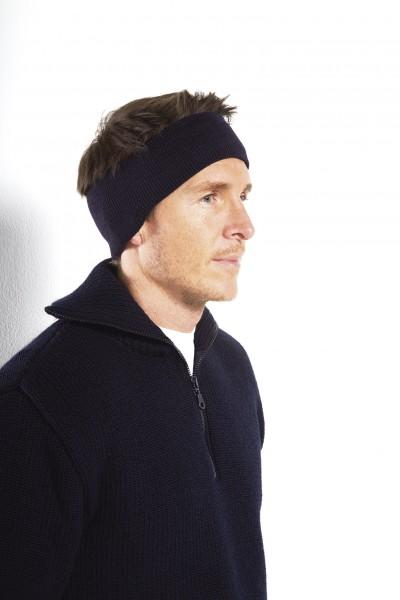 Stirnband 100% Schurwolle mit Ohrschutz oder gerade Form