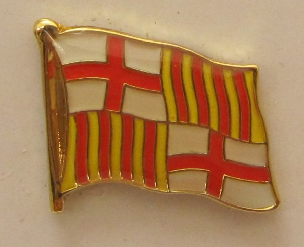 Pin Anstecker Flagge Fahne Barcelona Flaggenpin Button Badge Flaggen Clip Anstecknadel