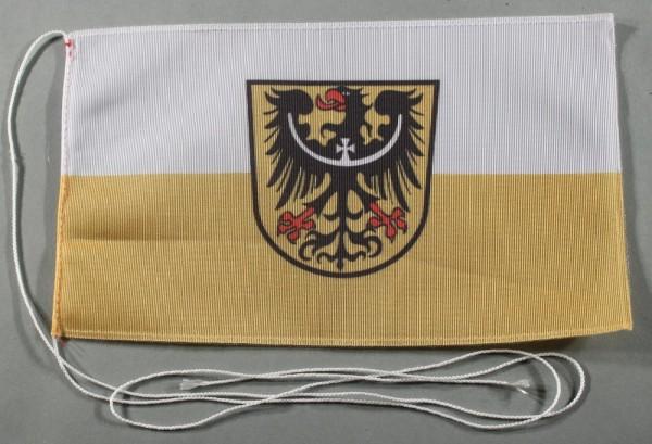 Tischflagge Niederschlesien 25x15 cm optional mit Holz- oder Chromständer Tischfahne Tischfähnchen