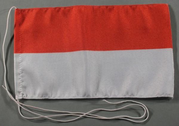Tischflagge Indonesien 25x15 cm optional mit Holz- oder Chromständer Tischfahne Tischfähnchen