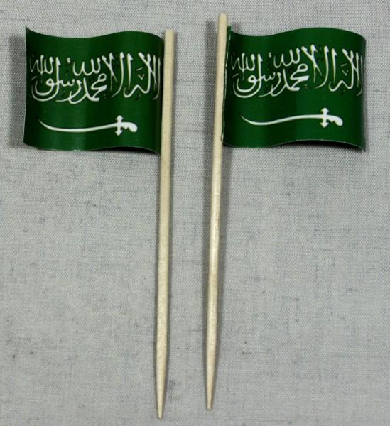 Party-Picker Flagge Saudi Arabien Papierfähnchen in Spitzenqualität 50 Stück Beutel