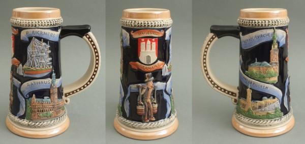 Bierkrug Hamburg Hummel Souvenir Andenken Bier Humpen Bierseidel