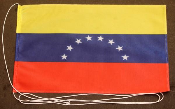 Tischflagge Venezuela 25x15 cm optional mit Holz- oder Chromständer Tischfahne Tischfähnchen