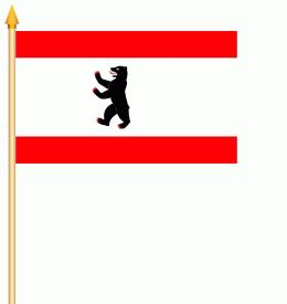 Stockflagge Berlin 30x45cm