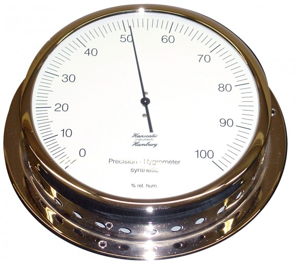 Schiffs Hygrometer 150 mm verchromt