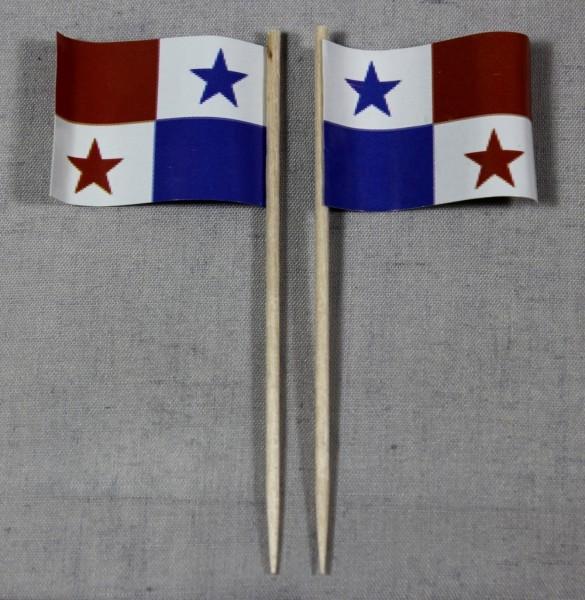 Party-Picker Flagge Panama Papierfähnchen in Spitzenqualität 50 Stück Beutel