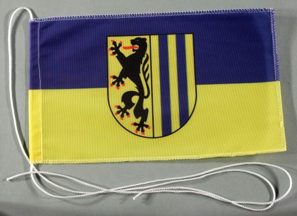 Tischflagge Leipzig Stadtflagge 25x15 cm optional mit Holz- oder Chromständer Tischfahne Tischfähnch