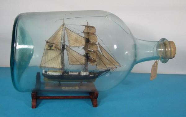 Buddelschiff Schonerbrigg EINTRACHT von Victor Kobler, Schweiz