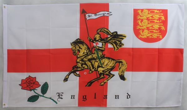 Flagge Fahne : England mit Ritter