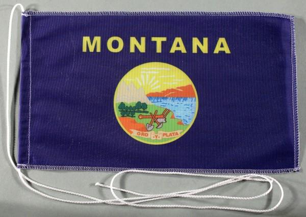 Tischflagge Montana USA Bundesstaat US State 25x15 cm optional mit Holz- oder Chromständer Tischfahn