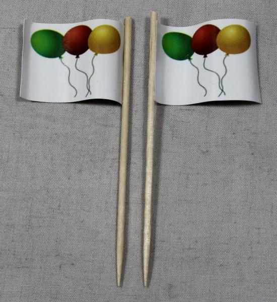 Party-Picker Flagge Luftballons Papierfähnchen in Spitzenqualität 50 Stück Beutel