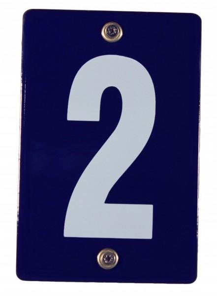 Hausnummernschild 2 Emaille Hausnummer Schild Haus Nummer Zahl Ziffer Metallschild