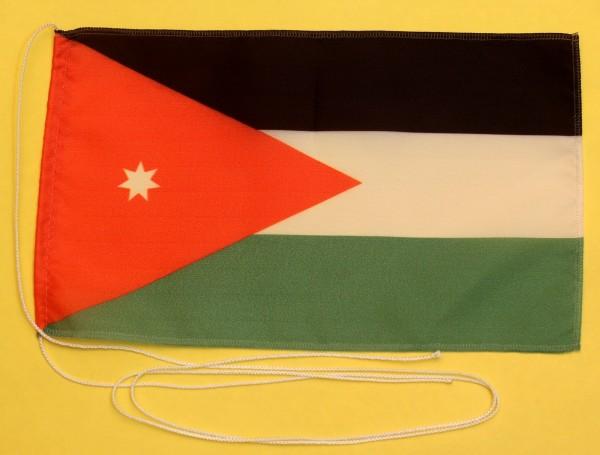 Tischflagge Jordanien 25x15 cm optional mit Holz- oder Chromständer Tischfahne Tischfähnchen