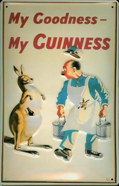 Blechschild Guinness Bier Känguruh Australien Schild nostalgisches Kneipenschild