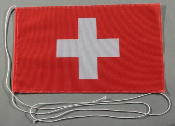 Tischflagge Schweiz Schweizerfahne 25x15 cm optional mit Holz- oder Chromständer Tischfahne Tischfäh
