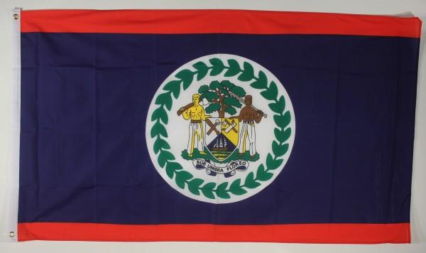 Flagge Fahne : Belize Belizeflagge Nationalflagge Nationalfahne